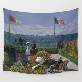 Garden at Sainte-Adresse by Claude Monet Wall Tapestry