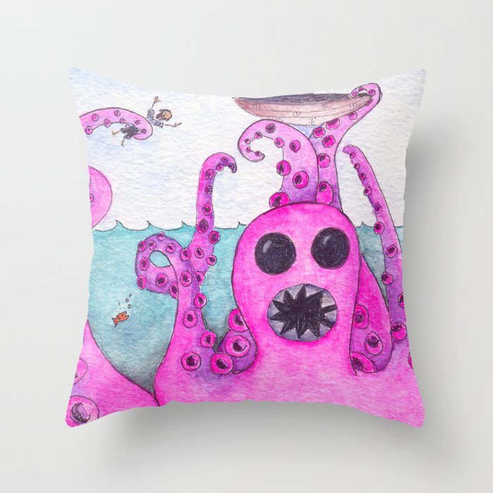 Octavius Strikes Again Throw Pillow