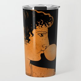 Achilles blowing bubble gum Travel Mug