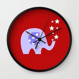 Elephant and Stars Wall Clock