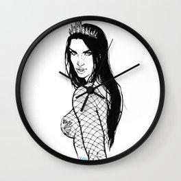 Mermaid with crown Wall Clock