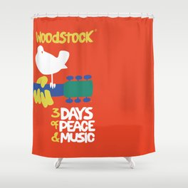 Woodstock 1969 Shower Curtain