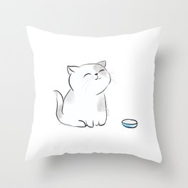 Feed me, Human. Throw Pillow
