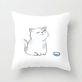 Feed me, Human. Throw Pillow