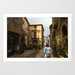 Old town of Tuscany Art Print