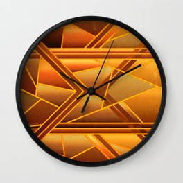 Abstract soft orange gradient shapes Wall Clock
