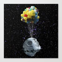 death star Canvas Prints featuring Death Star by J Styles Designs