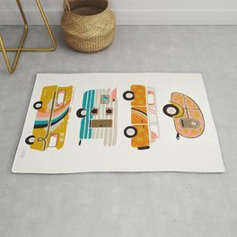Retro Road Trip – White Rug