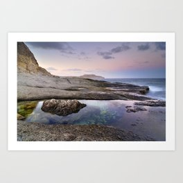 Reflections at Plomo beach Art Print