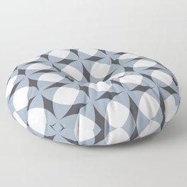 Breeze Block Shadows in Light Blue Floor Pillow