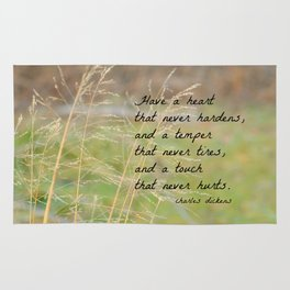 Have a Heart Charles Dickens Quote Rug