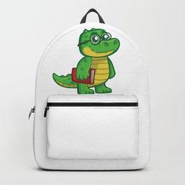Cartoon Crocodile Schoolboy Backpack