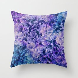 Hibiscus Flower Pattern Throw Pillow