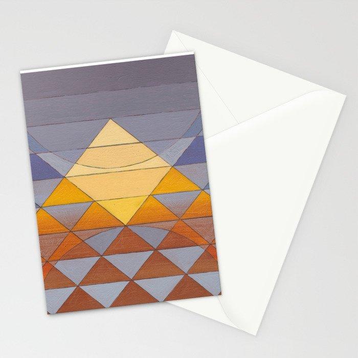 Pyramid Sun Mauve Purple Stationery Cards