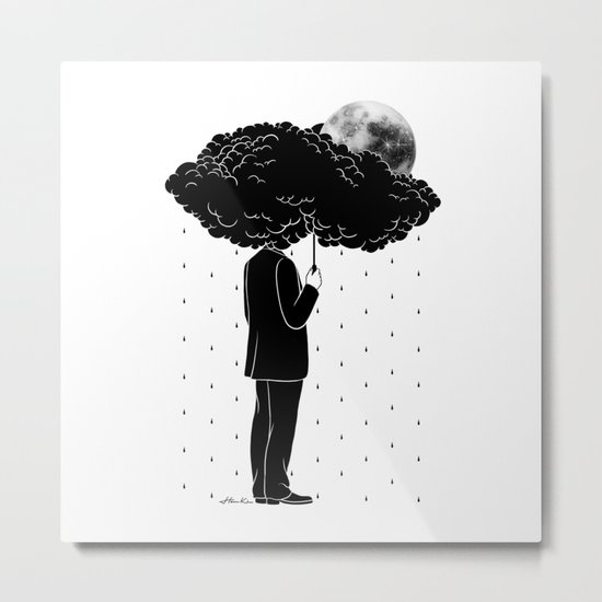 My life is a Storm Metal Print