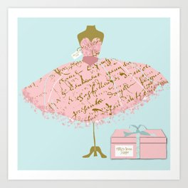Milly's Dress Shop Art Print