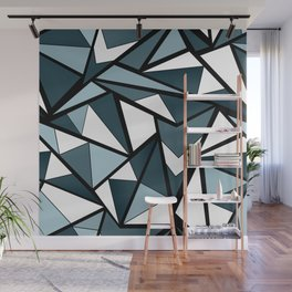 Geometric pattern in grey and white tones . Wall Mural