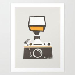 SLR Camera Art Print