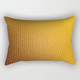 Orange Abstract Pattern Rectangular Pillow