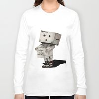 poetry Long Sleeve T-shirts featuring Danbo poetry by evanski