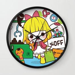 Kokeshi Girl Wall Clock