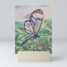 Glass Wing Butterfly Mini Art Print