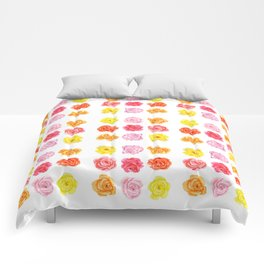 9 watercolor roses Comforters