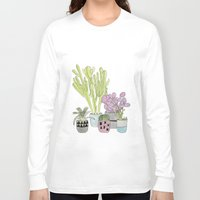 cactus Long Sleeve T-shirts featuring Cactus by Olivia James