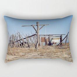 Makeshift Mexico Cross, 2007 Rectangular Pillow