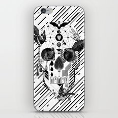 Abstract Skull B&W iPhone Skin