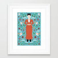 mary poppins Framed Art Prints featuring Mary Poppins by Carly Watts