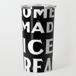 Home-made Ice Cream Vintage Sign Travel Mug