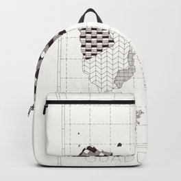 Guadeloupe carte graphic design Backpack
