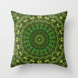 Forest Light Mandala Throw Pillow