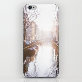 AMSTERDAM / Winter Sunrise on the Canals iPhone Skin