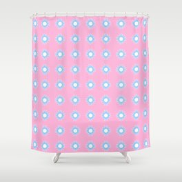 Stars 46- pink and blue Shower Curtain