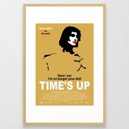 TIME'S UP Framed Art Print