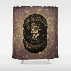 Rocket Ship! Shower Curtain