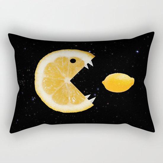 Funny Lemon Eats lemon Rectangular Pillow