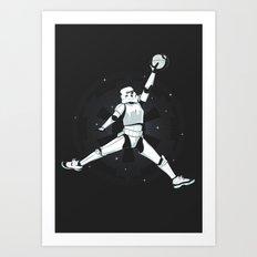 JUMPMAN TROOPER Art Print