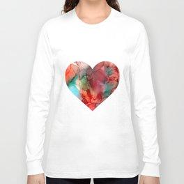 Inside my heart | Alcohol ink artwork Long Sleeve T-shirt