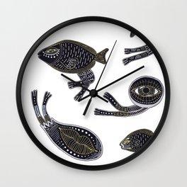 underwater surreal creatures Wall Clock