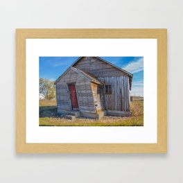 CCC-Built KC Hall, Huff, North Dakota 3 Framed Art Print