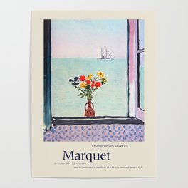 Albert Marquet. Exhibition poster for Musee de l'Orangerie in Paris, 1975-1976. Poster