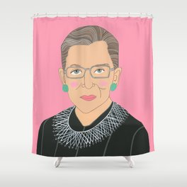 Ruth Bader Ginsberg Shower Curtain