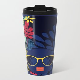 Afro Diva : Sophisticated Lady Blue Travel Mug