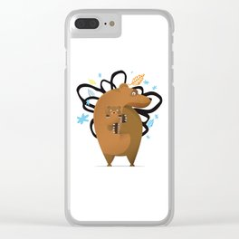 small and big bear Clear iPhone Case