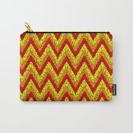 red yellow zigzag Carry-All Pouch