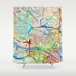 Glasgow Street Map Shower Curtain
