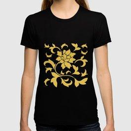 Oriental Flower - Mustard Yellow T-shirt